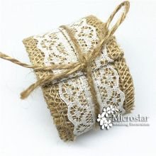 1 M 6 cm Jute Burlap Hessian Ribbons Lace Trims Cake Decoration Gift Wrapping Hessian Lace Burlap Ribbon Rustic Wedding Deco(China (Mainland))