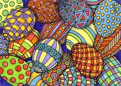 Colors and designs for painting egg-shaped rocks