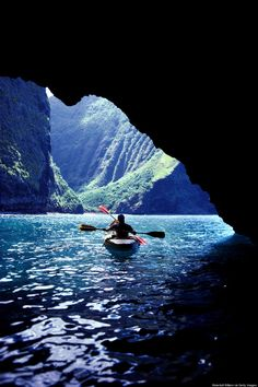 The sea caves along the Na Pali Coast, Kauai, Hawaii. Specifically: Waiahuakua sea cave, Hoʻolulu sea cave and Open Ceiling cave
