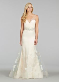 Jim Hjelm - V-Neck A-Line Gown in Tulle