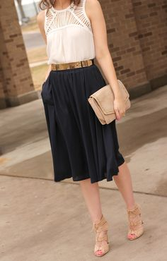 Edgy summer midi skirt