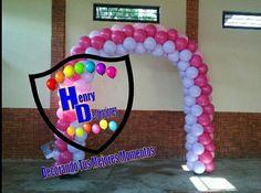 Arco de globos tonos pastel