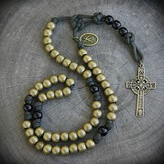 Rosary Prayer, Holy Rosary, Rosary Catholic, Prayer Beads, Paracord Rosary, Catholic Store, Beaded Necklace, Beaded Bracelets, Book Crafts
