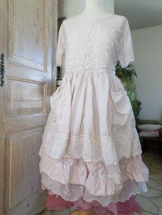 Taille Unique EN Héritage Magnolia Soie Dentelle Ancienne Pearl | eBay