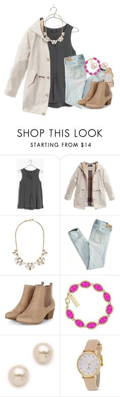 """fun weekend"" by thefashionbyem ❤ liked on Polyvore featuring Madewell, Burberry, Forever 21, American Eagle Outfitters, Kendra Scott, Juliet & Company, Kate Spade, women's clothing, women and female"