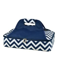This Blue Chevron Thermal Food Carrier is perfect! #zulilyfinds