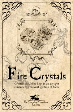 Fire-Crystal-Label (a_granger) Tags: autumn halloween book magick label magic spell haunted labels apothecary cauldron charms potions spells potion cackling halloweendecorations curses spellbook hexes apothecarylabels potionlabels Halloween Bottle Labels, Halloween Apothecary, Halloween Potions, Halloween Books, Holidays Halloween, Halloween Crafts, Halloween Decorations, Halloween Ideas, Potion Labels