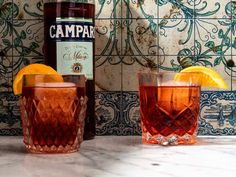 Italian Cocktails, Classic Cocktails, Fun Cocktails, Cocktail Recipes, Florence Cafe, Negroni Recipe, Sparkling Wine, Alcoholic Drinks, Beverages