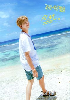 """Joon wearing shorts by the sea🌊"" Namjoon, Taehyung, Mixtape, Jimin, Foto Bts, K Pop, Rapper, Kim Daily, Bts Summer Package"