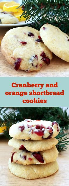 Cranberry and orange shortbread cookies are such a Christmassy treat, soft, crumbly, buttery, just perfect!
