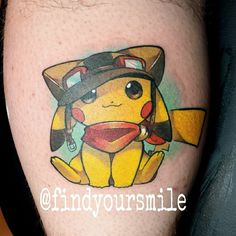 Got to recreate this awesome piece of art the client found online! If anyone knows the original artist please tag them! #nerd #nerdtattoo @nerdytattoos @igersnintendo #geek #geeky #geektattoo #geekytattoo #nerdytattoo #pokemon #pokemontattoo #pikachu #pikachutattoo #tattoo #colortattoo #electricink #neotatmachines #thankful #pilot #pilottattoo #original #original150 #awesome