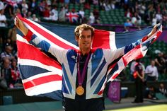 London 2012 Tennis - Andy Murray gets gold on home turf.