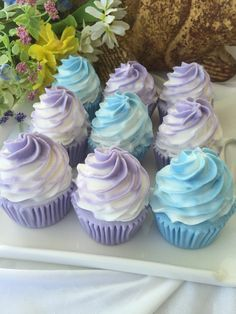 Cupcake Soap Favors Birthday Party Favors by SeasideSoapKitchen