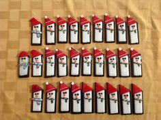 Penguin Christmas Ornaments - Fused glass - KM Glass Creations