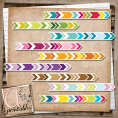 free printable chevron arrows | u printables by rebeccab | this is a great site with beautiful free printables | links to a zip file that includes a jpeg of the images and a file to use with the silhouette cameo machine