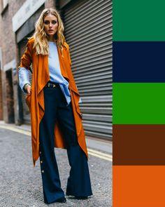 colori da abbinare con blu - www.50sfumaturedioutfit.com Colour Combinations Fashion, Color Combinations For Clothes, Color Blocking Outfits, Fashion Colours, Colorful Fashion, Color Combos, Casual Outfits, Fashion Outfits, Matching Outfits