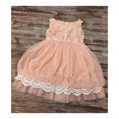 Rosette Lace Bubble Dress Baby Toddler Girl by maxgraciesupplyco, $40.00