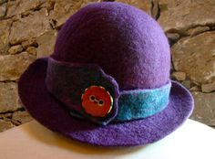 Purple Dome Button Hat by Alpacalindy on Etsy, $125.00