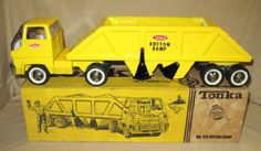 1960's Tonka COE Bottom Dump #910 Semi Truck w/ Original box