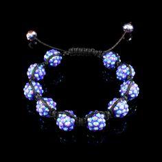 Pulseira shambala cristal lilás da Prata Fina.