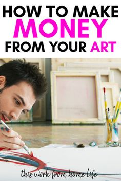 How To Make Money As An Artist Online - This Work From Home Life - How to Make money as an artist online with your own website and storefronts. If you create things, - Hobbies For Women, Hobbies That Make Money, Make Money From Home, Way To Make Money, Make Money Online, Things To Sell, Craft Online, Online Blog, Online Work