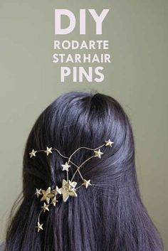 Make a statement with a star and wire hairpiece.