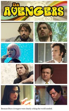 Disco Avengers. I particular like how they've pictured Cap. He really resembles Shaggy, from Scooby Doo lol.
