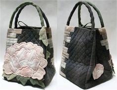 bolso japan Japanese Bag, Japanese Quilts, Patchwork Bags, Quilted Bag, Hand Quilting Designs, Diy Handbag, Crochet Handbags, Fabric Bags, Cute Bags