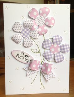 Macaroon Paper Pad and Paper Bows Making Greeting Cards, Greeting Cards Handmade, Baby Cards, Kids Cards, Craftwork Cards, Birthday Card Design, Cricut Cards, Handmade Birthday Cards, Card Making Inspiration