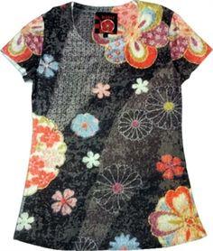 Digital printed Japanese artwork Tshirt Japan Time, Japanese Artwork, Short Sleeve Dresses, Dresses With Sleeves, What I Wore, Cloths, Digital, Printed, Blouse