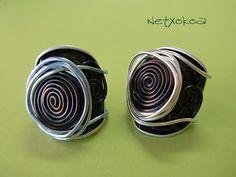 Anillos hechos con cápsulas nespresso.    Rings made of capsules nespresso