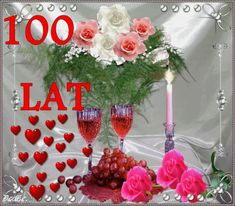 Urodziny i imieniny: Gify urodzinowe Wine Time, Happy Birthday, Table Decorations, Home Decor, Humor, Book, 100 Red Roses, Flowers, Happy Brithday