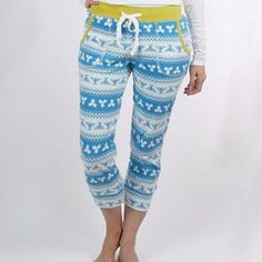 Now, moreHanukkah coziness for your sleeping and lounging enjoyment! These Hanukkah Pajama Pants are cropped + feature a dreidel and menorah winter wonderland