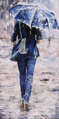 Emerico toth - paintings by emerico imre toth amazing art, rain painting, u Rain Art, Umbrella Art, Umbrella Painting, Illustration Art, Illustrations, Beautiful Paintings, Rainy Days, Love Art, Painting & Drawing