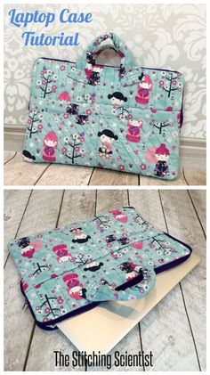 Free Sewing Pattern for a Laptop case! This is so cute! I could use a new laptop case. I would just need to figure out how to add a longer adjustable strap. #Freesewingpatterns