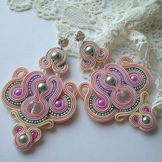 Fabric Earrings – Candy shop soutache earrings jewelry for gift – a unique product by Art_emida on DaWanda 270