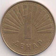 Wertseite: Münze-Europa-Südosteuropa-Mazedonien-Денар-1.00-1993-2014