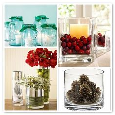Decorate with glass containers