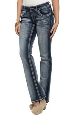 06c639d9d9e Ariya Curvy Fit Slim Bootcut Jean with Studded Accents