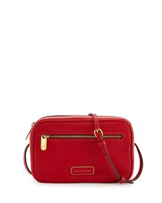 Sally Pebbled Leather Crossbody Bag, Rosey Red by MARC by Marc Jacobs at Neiman Marcus.