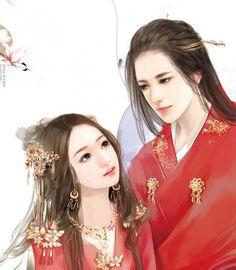古风人物插画_百度图片搜索 Painting Of Girl, Couple Painting, Chinese Drawings, Fantasy Couples, Creative Pictures, Traditional Fashion, Perfect Couple, Chinese Boy, Couple Art