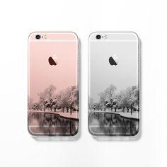 Snowy landscape iPhone 6 case iPhone 6s case clear by Darkoolart