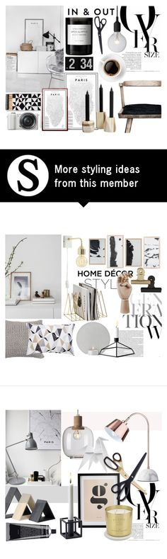 """""""B&W Perfection"""" by sofiehoff on Polyvore featuring interior, interiors, interior design, home, home decor, interior decorating, Byredo, Vitra, Sony and HAY"""