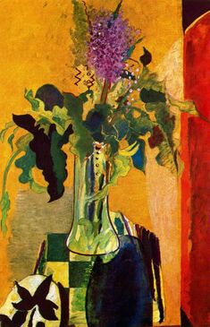 The Glass of Lilac-Artist: Georges Braque Completion Date: 1946 Place of Creation: France Style: Expressionism Genre: still life Technique: oil Material: canvas Gallery: Private Collection Tags: flowers-and-plants Georges Braque, Pablo Picasso, Art And Illustration, Art Floral, Art Fauvisme, Art Français, Alberto Giacometti, Henri Matisse, Fine Art