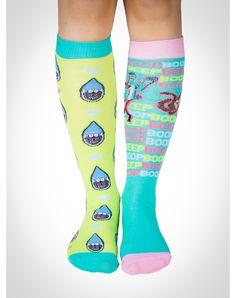 LOVE a fun sock!! The Regular Show 'Dude' Knee High Socks 4 Pk