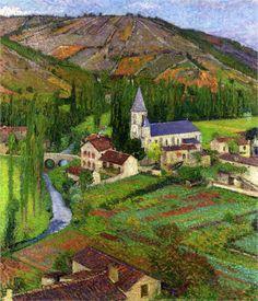 """Henri Martin -     """"The Church at Labastide"""", 1920"""