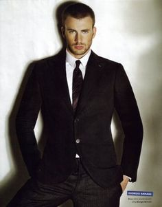 Chris Evans - something about a guy in a suit...