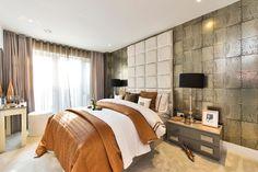 """Antique Mirror"" wallpaper. Luxury Living | Andrew Henry Interiors"
