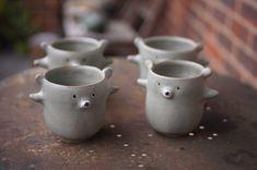 Zoo Keeper, Sugar Bowl, Afternoon Tea, Bowl Set, Stoneware, Pots, Bear, Ceramics, Paper