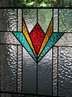 Simple, but beautiful stained glass panel.